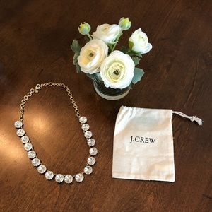 NWOT J. Crew Factory Brass-plated Crystal Necklace